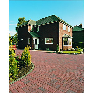 Wickes Block Paving 200x100mm Red 488 Pack