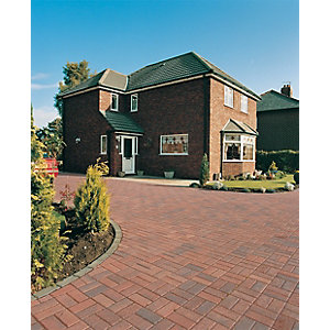 Wickes Block Paving 200x100mm Brindle Single