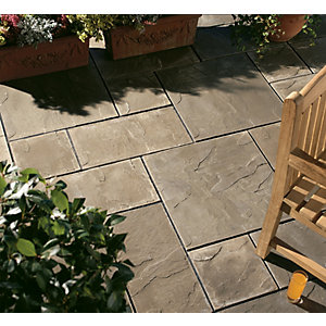 Wickes Hamilton Utility Paving Slab 600x600mm Grey Single