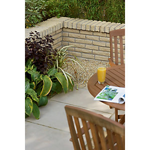 Marshalls Pitch Faced Walling 300 x 100 x 65mm Single - Buff