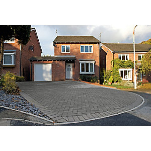 Wickes Block Paving 200x100mm Charcoal Single