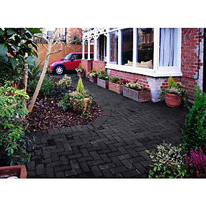 Wickes Block Paving 200x100mm Charcoal 488 Pack