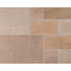 Marshalls Indian Sandstone Brown Paving Project Pack 15.23 M2