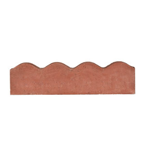 Marshalls Contour Edging 600mm x 150mm x 50mm Red