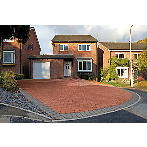 Marshalls Block Paving Red 200 x 100 x 50mm PK488