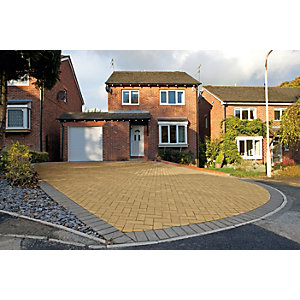 Marshalls Block Paving 200 x 100 x 50mm Pack 488 - Buff
