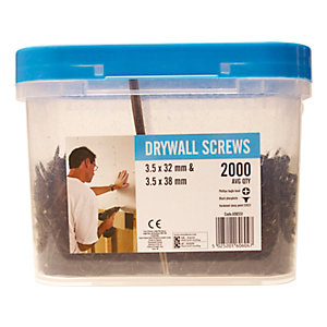 TP Drywall Screws Bucket 200 Pieces 1000mm x 32mm and 1000mm x 38mm
