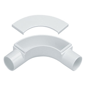 Marshall-Tufflex Conduit Inspection Bend White 20mm