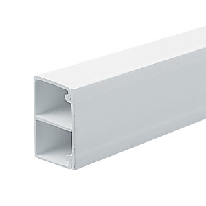 Marshall-Tufflex Compartment Mini Trunking White 38mm x 25mm x 3000mm