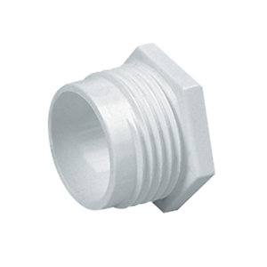Marshall-Tufflex Conduit Male Bushes White 38mm