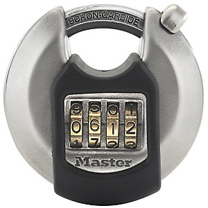Master Lock Excell™ M40EURDNUM 4 Digit Resettable Discus Stainless Steel Padlock 70mm