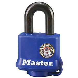 Master Lock 312KA Weather Tough Laminated Steel Blue Padlock 40mm
