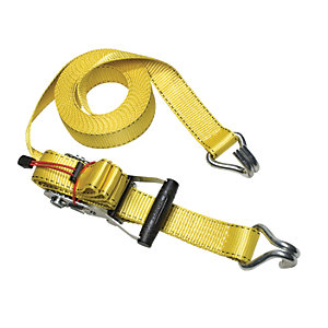 Master Lock 8.25m Ratchet Tie Down with J Hooks