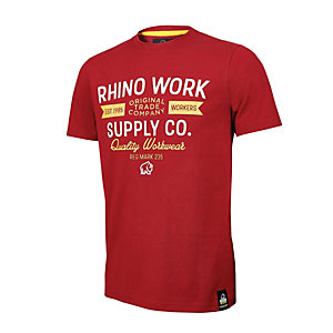 Rhino Workwear T-shirt Red Extra Large
