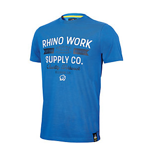 Rhino Workwear T-shirt Blue Extra Large