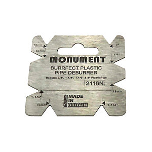 Image of Monument 4-IN-1 Burrfect Square Plastic Waste Pipe Deburrer 2116N