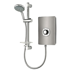 Trition Style 9.5kW Electric Shower Gun Metal Effect
