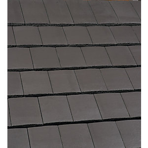 Marley Ashmore Interlocking Double Plain Tile Smooth Grey 14228