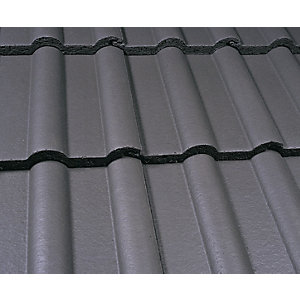 Marley Double Roman Roofing Tile Smooth Grey