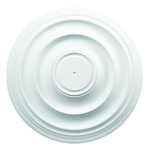 Wickes White 400mm Polyurethane Plain Ceiling Rose