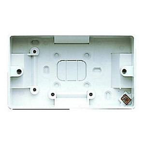MK Surface Mounted Box Double 40mm K2172RPWHI
