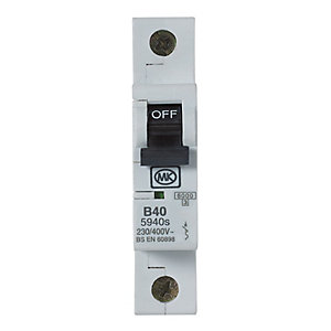 MK MCB Single Pole Type B 40A 230V B40