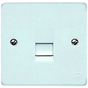 MK Slave Telephone Socket 1 Gang K0427PPK