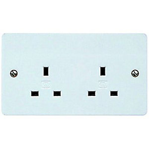 Mk 13a Unswitched Double Socket K781ppk Wickes Co Uk