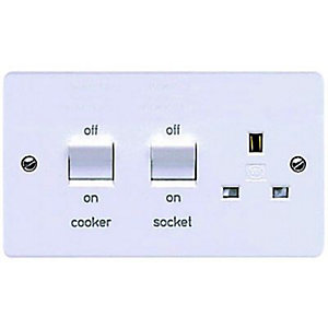 MK 45A Double Pole Cooker Switch & Socket K5060PPK