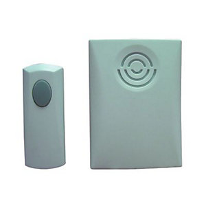 Wickes Portable Wirefree Door Chime Kit 75m Range