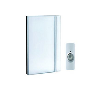 Wickes Wirefree Doorbell Chime Kit White