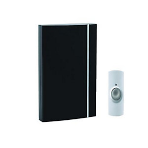 Wickes Wirefree Doorbell Chime Kit Black