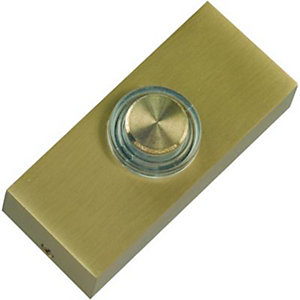 Wickes Doorbell Push Solid Brass