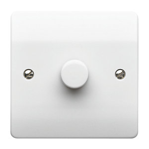 MK Dimmer Switch 1 Gang 250W 2 Way K1534WHI