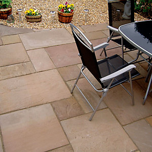 Natural Paving Finestone Project Pack Autumn Brown 15mm-22mm