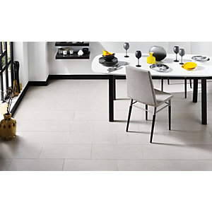 Wickes Basaltina Wall & Floor Tile White 300x600mm
