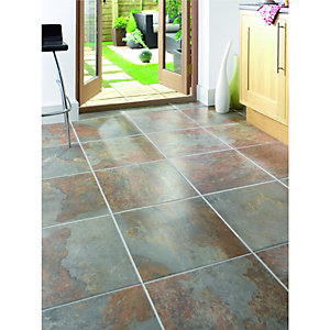 Wickes Cavan Slate Effect Matt Porcelain Floor Tile 450x450mm