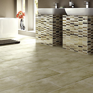 Wickes Beige Matt Porcelain Floor Tile 300x600mm