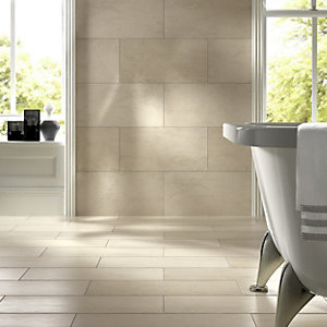 Wickes Taupe Honed Porcelain Wall & Floor Tile 300x600mm