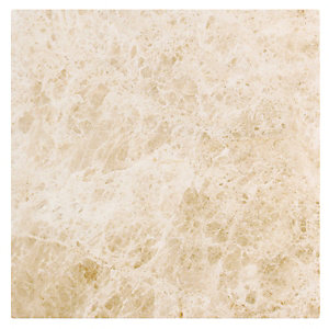 Wickes Nevada Light Cream Gloss Marble Effect Ceramic Wall & Floor Tile 450x450mm