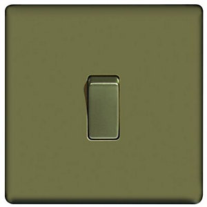 Wickes 10A Light Switch 1 Gang 2 Way Pearl Nickel Screwless Flat Plate