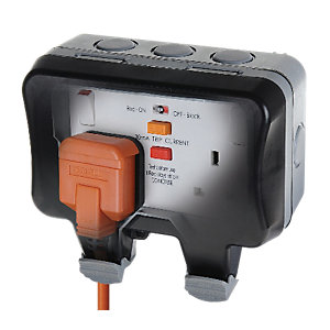 Masterplug IP66 13A Switched Socket RCD WP22RCD