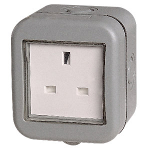 Masterplug IP55 13A Unswitched Socket 1 Gang WPB23
