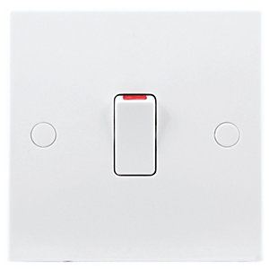 British General 20A Double Pole Control Switch White