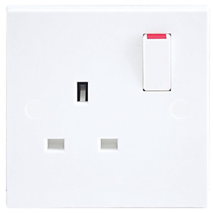 Wickes/Electrical & Lighting/Switches & Sockets/British General 13A 1 Gang Double Pole Switched Power Socket White