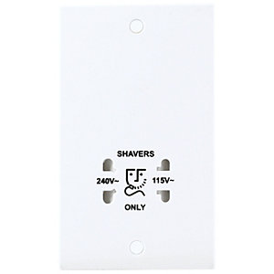 British General Dual Voltage Shaver Socket White