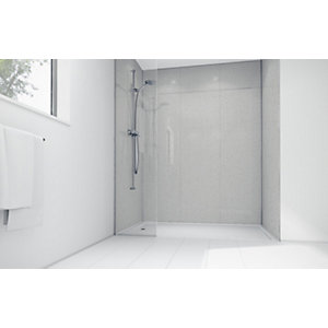 Wickes White Sparkle Laminate Panel 2400x900mm SQ