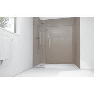 Wickes Coffee Acrylic 900 x 900mm 2 Sided Shower Panel Kit