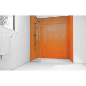 Wickes Amber Acrylic 900 x 900mm 2 Sided Shower Panel Kit