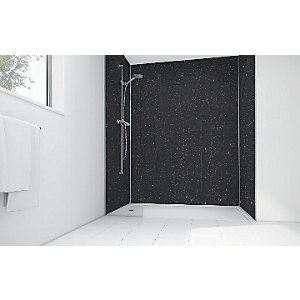 Wickes Burgos Marble Laminate 900 x 900mm 2 Sided Shower Panel Kit